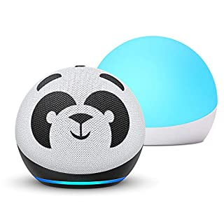 All-new Echo Dot (4th Gen) Kids Edition + Echo Glow | Panda