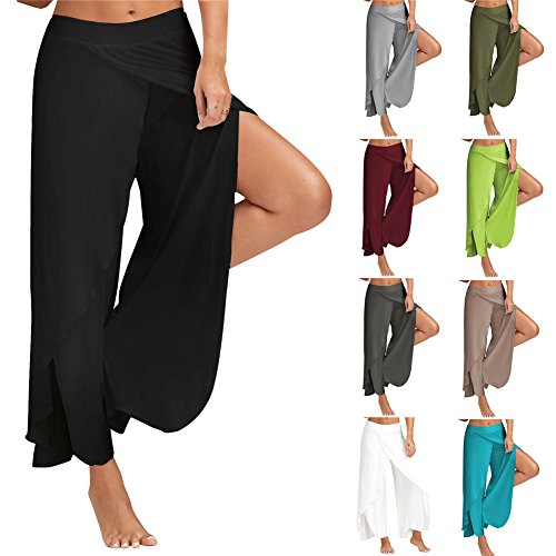 Up Abbigliamento Casual estate Donne Stretch Gamba Culottes Donna Pantaloni Larghi Push E Leggings Cotone Tenxin 1 Ywp7qtn