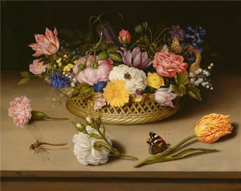 Perfect Effect Canvas ,the Best Price Art Decorative Prints On Canvas Of Oil Painting 'Flower Still Life, 1614 By Ambrosius Bosschaert The Elder', 10x13 Inch / 25x32 Cm Is Best For Home Office Decoration And Home Gallery Art And Gifts