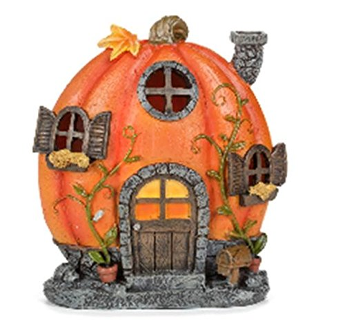 Fairies For Halloween (Miniscape Pumpkin Resin House 5.5 x 6 Inches)
