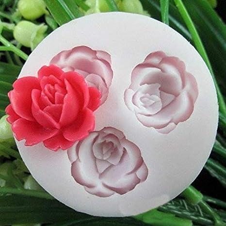 Cake molde herramienta,Silicona Fondant pastel molde de decoración de torta de las herramientas rosa M: Amazon.es: Hogar