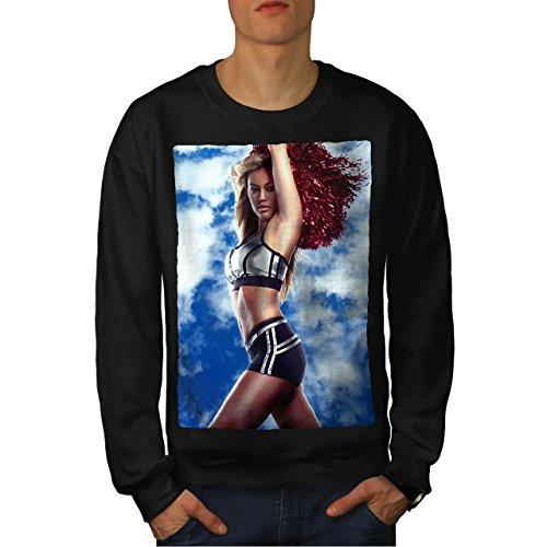 wellcoda Cheerleader Erotic Sexy Mens Sweatshirt, Sexy Casual Jumper