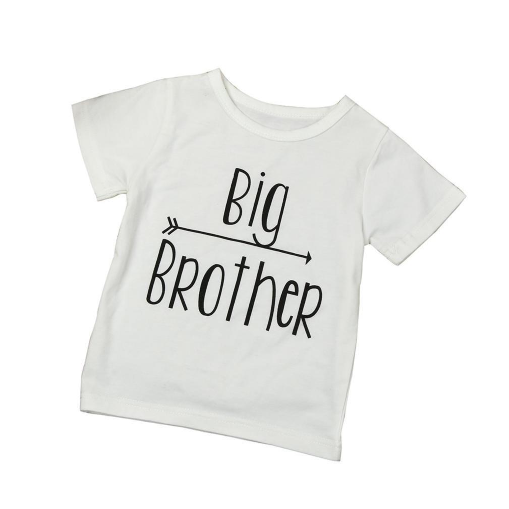 Huphoon Baby Boys Clothes Big Brother White Short Sleeve Print Tops T-Shirt