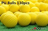 A99 Golf Elastic Practice Pu Balls Yellow 130 Pcs - Free Shipping