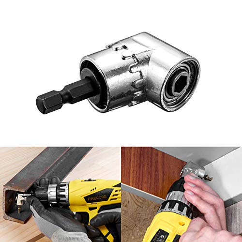 Techson Right Angle Drill, 105 Degree Right Angle Drill Driver, Multifunction Handy Power Drill Tool Attachment