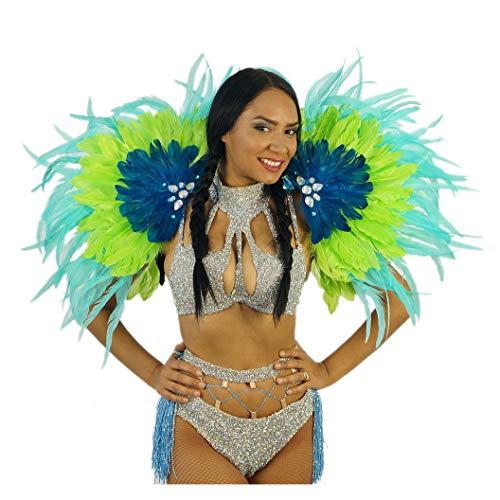 Tropical Carnival Costume Samba Epaulet - Adult Cosplay/Halloween Costumes Blue (Rio Jewel Costume)