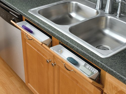 Rev-A-Shelf 6572-11-15-52 Standard and Accessory False Front Tip-Out Trays - Polymer-Almond by Rev-A-Shelf