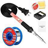 Soldering Iron Kit, 60W Soldering Iron with Ceramic Heater, 4-in-1 Adjustable Temperature Soldering Welding Iron Kit for any Hobby Enthusiast 110V US Plug