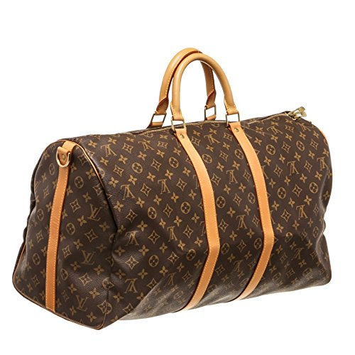 b124264f089 Louis Vuitton Pre-Owned Monogram Canvas Leather Keepall 55 cm Bandouliere  Duffle Bag Luggage  Amazon.co.uk  Luggage