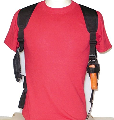 Gun Shoulder Holster with Double Mag Pouches for the Colt 45 & Springfield 1911 (1911 45 Holsters)