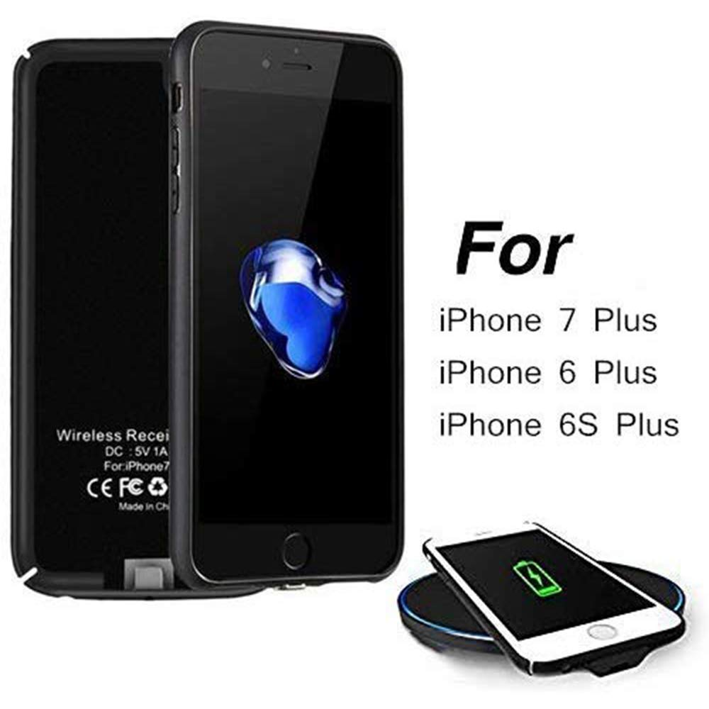 Hoidokly - Funda de Receptor de Carga inalámbrica Compatible con iPhone 7 Plus / 6S Plus / 6 Plus