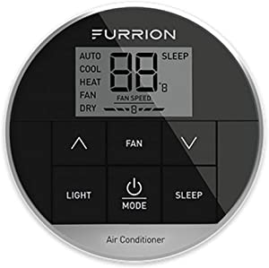 Furrion Single Zone Premium Wall Thermostat, Black, Standard, Model: FACW12PA-BL