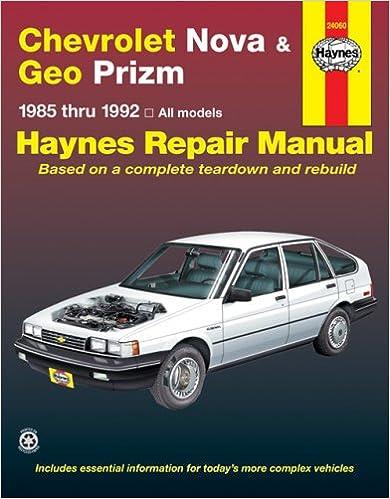 1992 Geo Prizm Repair Manual Pdf