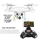 Gbell Kids Adults Camera Drone - Altitude Hold SMRC S10W-G 120°Angle Quadcopter 720P Camera Helicopter for Beginnners,Birthday Christmas New Year Gifts for Kids Adults,White,Black,Red (White)