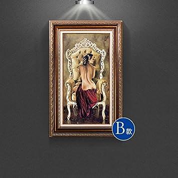Fesselnd Patined Amerikanischen Eingang Dekoration Malerei Europäischen Badenixe  Malerei Wandbilder Gang Mediterrane Wohnzimmer, 50 * 80