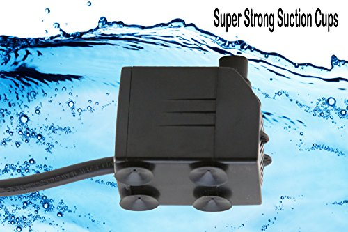 Tiger-Pumps-120GPH-Submersible-Water-Pump-Pond-Pump-Aquarium-Pump-Fish-Tank-Pump-Fountain-Pump-With-120-GPH-Pump-Excellent-Powerheads-For-Aquariums-Hydroponics-Air-Pump-With-5-Feet-Power-Cord