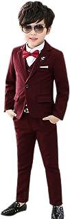XFentech Ragazzo Abito - Formale Completo Abiti Panciotto Giacca Pantaloni Suit Matrimonio Costume Festa di Matrimonio 3-8 Anni 3 Pezzi