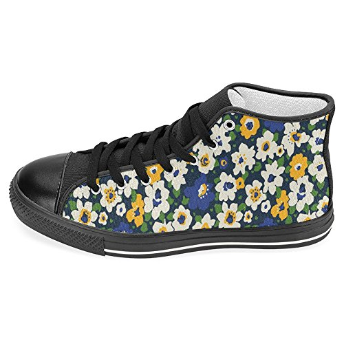 Interestprint Mujeres High Top Classic Casual Canvas Zapatos De Moda Entrenadores Lace Up Sneakers Floral