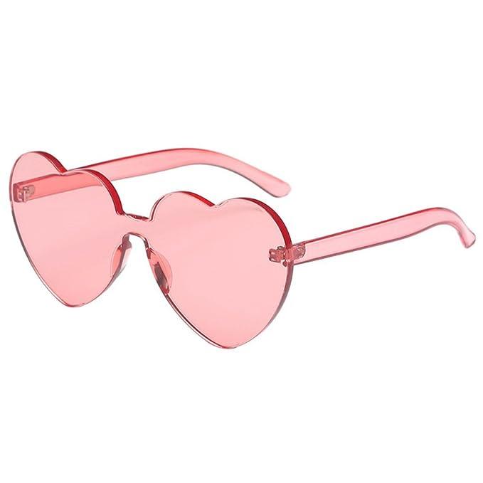 Hzjundasi Moda En forma de corazón Sin montura Bastidor Gafas de sol ...