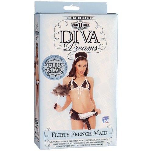 Doc Johnson Vac-u-lock Diva Dreams, Flirty French Maid, Plus Size (Doc Johnson Strap On Harness compare prices)