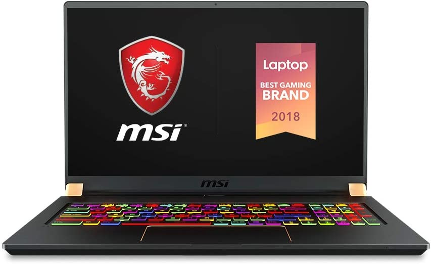 "MSI GS75 Stealth-093 17.3"" Razor Thin Bezel Gaming Laptop NVIDIA RTX 2080 8G Max-Q, 144Hz 3ms, Intel i7-8750H (6 cores), 32GB, 512GB NVMe SSD, TB3, Per Key RGB, Win10H, Matte Black w/ Gold Diamond Cut"