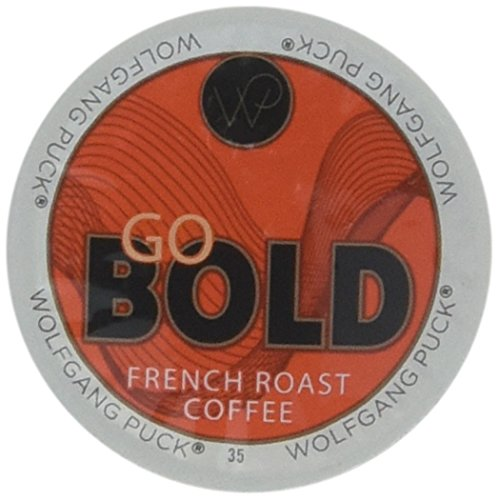 Wolfgang Puck French Roast Coffee for Single Serve Cups, Go Bold, 96 Count by Wolfgang Puck