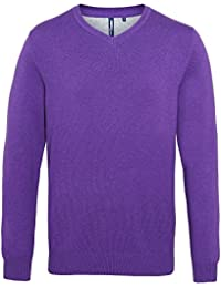 Asquith & Fox Mens Cotton Rich V-Neck Sweater