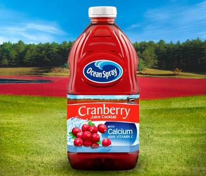Ocean Spray Cranberry Cocktail Drink with Calcium, 64-Ounce Bottles (Pack of 8)