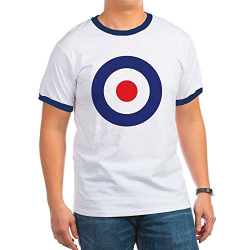 CafePress - MOD Target T-Shirt - Ringer T-Shirt, 100% Cotton Ringed T-Shirt, Vintage Shirt - Target Vintage T-shirt