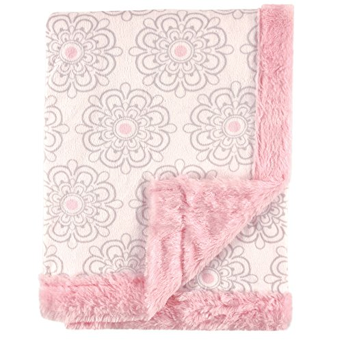 Hudson-Baby-Plush-Blanket-with-Furry-Binding-Back-Modern-Floral