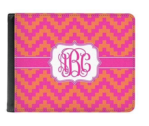 Los De Del Genuino Chevron Rosa Doble Cuero Carpeta Pliegue personalizado Hombres Y Naranja De wx1SFqTS