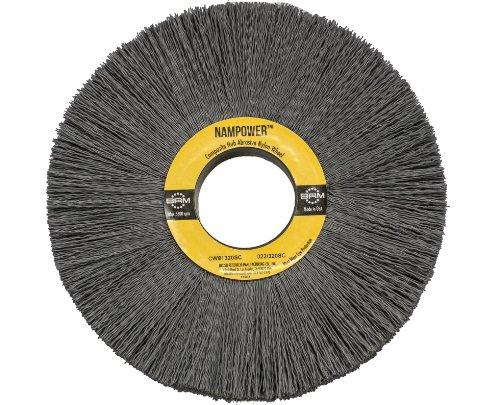 Brush Research CW81280SC Nampower Composite Hub Abrasive Nylon Wheel Brush, Round Hole, Silicon Carbide Filament, 8