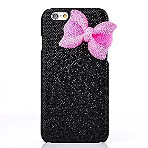 SHOUJIKE LUXURY Shimmering Powder Bowknot Back Cover Case for iPhone 6(Assorted Colors) , Pink
