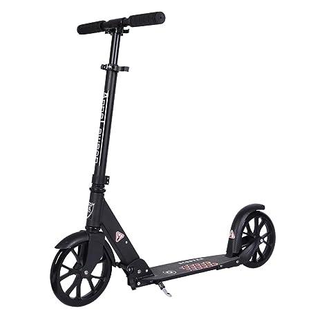 Patinetes clásicos Scooter Plegable para Adultos con Antideslizante Rueda de PU Resistente al Desgaste, Scooter