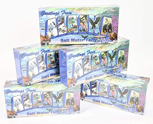 Alaska, Salt Water Taffy Candy Souvenir Gift. 5 box set.