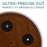 Protective Skin For Echo Dot 2nd Gen - Ultra-Precise Fit Wrap + Cleaning Pads / Wood Brown