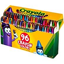 Crayola Crayons; Art Tools; 96 ct.; Durable, Long-Lasting Colors, Built-in Sharpener
