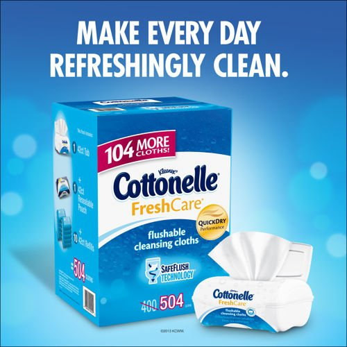 Flushable Moist Wipes Case (Kleenex Cottonelle Flushable Moist Wipes Case of 504)