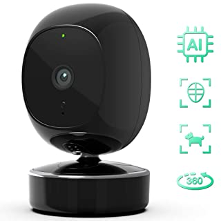 SimCam 1S Home Security Camera - AI Embedded Indoor Security Camera. Facial Recognition, Person Detection and Pet/Vehicle RECG, Pan/Tilt/Zoom for Auto-Tracking. No Lag, 2-Way Audio, Works with Alexa