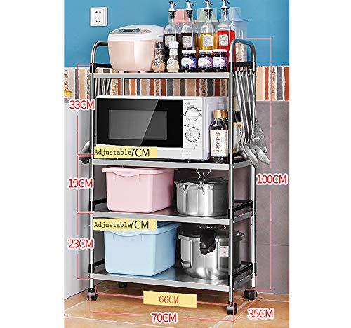Storage rack. Estante de 4 Capas de Acero Inoxidable para Cocina ...
