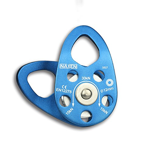 NAXEN 30kN CE Certified Climbing Pulley Ball Bearing Micro Pulley Mobile Side Plate Pulley by NAXEN