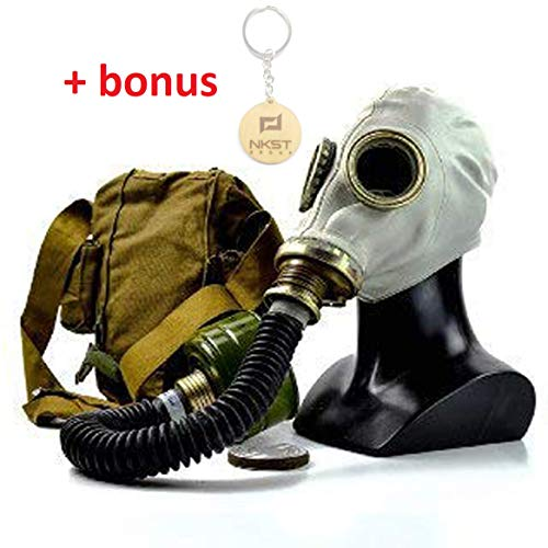 NKST Group Vintage Genuine Soviet Russian Gas mask GP-5 Post-Apocalyptic Cosplay Costume (Small) Grey (Best Gas Mask In The World)