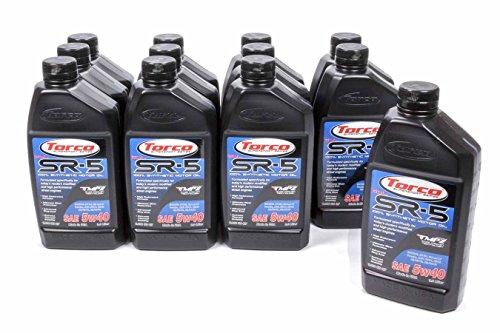 Torco A150544C SR-5 DLG 5w40 Synthetic Motor Oil Bottle - 1 Liter Bottle, (Case of 12)