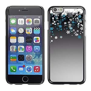 Cubierta de la caja de protección la piel dura para el Apple iPhone 6PLUS (5.5) - white snow snowflake winter teal