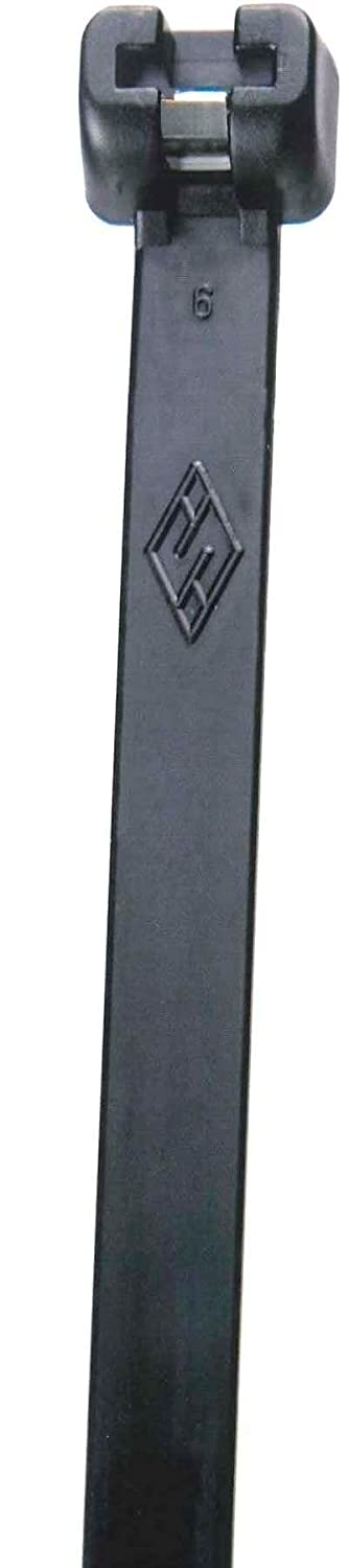Morris Products 20732 Ultraviolet Black Nylon Cable Tie Stainless Steel Tooth 40LB 4