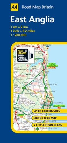 East Anglia (AA Road Map Britain)