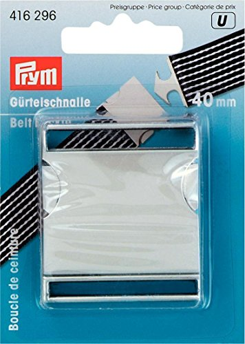 PRYM Matt Silver-Coloured 40mm Belt Buckle (1pc), Metal, 9.5 x 6 x 1.2 cm