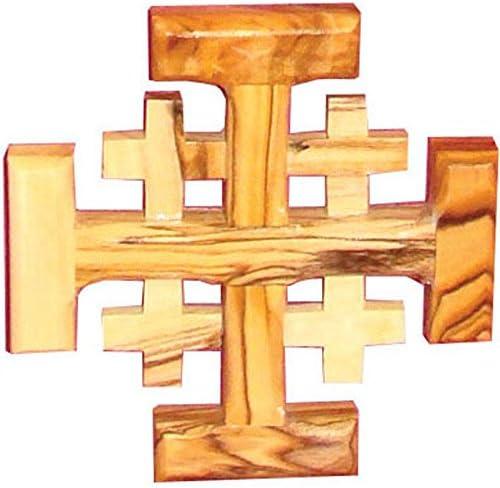Rosaire Nazareth Store Saint Benoit Fait /à la Main de J/érusalem m/édaille NR catholique Bois dolivier