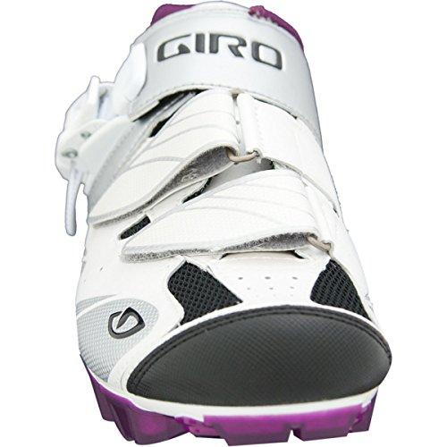 Giro Manta Bike Zapatos Mujeres Blanco / Plata / Ciruela