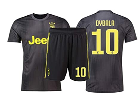 size 40 91c15 9279b LISIMKE Soccer Team 2018/19 Juventus Away Soccer Dybala 10 Mens  Replica&Shorts Kid Youth Replica Jersey Kit